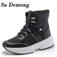 SA Demeng mulheres botas impermeáveis botas de neve feminino inverno de pelúcia mulheres quentes botas mujer inverno sapatos mulher1