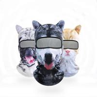 3D الحيوان قناع الوجه 3D مطبوعة واقية تغطي الحيوان طبع قابل للغسل قابلة لإعادة الاستخدام الفم قناع الكبار 9 تصاميم أقنعة WY919