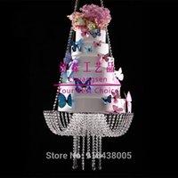 Foshan Crystal Crystal Chandelier Style Drape suspendido suspendido Soporte de pastel, soporte de pastel de acrílico, Stands de Deco de Navidad