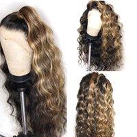 레이스 가발 Hairmoda 딥 웨이브 투명한 정면 1B / 27 금발 프론트 인간의 머리 브라질 레미