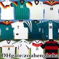 레트로 Klinsmann 클래식 축구 유니폼 alemania 1988 90 92 94 96 98 2014 고대 슈바인 스레스테이거 클로즈 뮬러 몰러 축구 셔츠