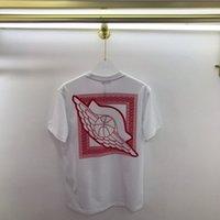 Mode chaude été printemps Europe Paris américain Basketball Flocking Motif Coopération Coton T-shirt Hommes Tee Femmes Street Street Casual T-shirt