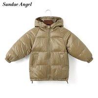 Sundae Angel Детская Пальто Зимние Девушки 80% Белый Утка вниз Дети с капюшоном Свернутая куртка для мальчика Теплый ребенок Верхняя одежда Одежда 201126