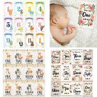 12 Sheet Baby Monthly Milestone Cards Birth to 12 Months Photo Moment Cards Unisex Boys Girls Photo Keepsake Landmark
