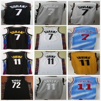 NCAA College New Kevin 7 Durant Jersey Schwarz Weiß Blau Kyrie 11 Mens Irving 72 Biggie Großhandel Billig Retro Vintage Basketballtrikots
