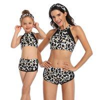 Nayooton Family Complete Swimwear Swimwear Beachwear Mommy e Me Costume da bagno Swimsuit Madre figlia vita alta vita bikini