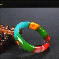 اللون الطبيعي اليشم الإسورة سوار حقيقية منحوتة اليد سحر الجاديت مجوهرات الاكسسوارات الأزياء تميمة للرجال النساء محظوظ هدية LJ201020