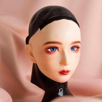 (CDFM-2)) Handgemachte Female / Mädchen Harz und Haube aus Latex Kopf voller japanische Zeichentrickfigur Cosplay Kigurumi Maske DWT-Puppe
