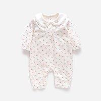 Vinder Baby Girl Rompers Baby Vêtements Vêtements Nouveau Né Bébé Vêtements Pure Coton Pure Coton Fleur Impression Soupers Chasseurs 6m ~ 24m 201028