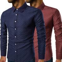 printemps, automne stylish western western chemise hommes marquer design mince décontracté chemise à manches longues maillot de mariée pour hommes