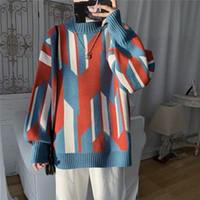 Erkek Kazak Bahar Kış Erkek Kazak Kore Gevşek Kazak Tembel Stil Yakışıklı Çok Yönlü Trend Öğrenci Kapüşonsuz Coat