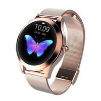 Akıllı İzle KW 10 Akıllı Saatler IP68 Nabız Mesajı Çağrı Hatırlatma Pedometre Kalori Smartwatch Kadınlar Android IOS Için İzle