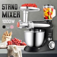 Elektrische Küchenmehl Pizzateigständer Mixer Prozessor Ei Schläger Backen Werkzeuge mit Frucht Safter Schüssel Abdeckung Haken Whisk