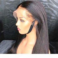 Luz Yaki Straight 13x6 Encaje Frontal Frontal Pelucas Humanas Pelucas italianas brasileñas Osaki Wig 8-26 '' Remy Silk Top Pelucas de cabello humano con elástico