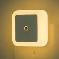 Işık Sensörü Kontrol Gece Lambası 110 V 220 V AB ABD İNGILTERE Fiş LED Başucu Koridor Nightlight Çocuk Çocuk Oturma Odası Yatak Odası Aydınlatma Lambası