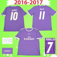 2016 년 2017 호나우두 레알 마드리드 축구 유니폼 보라색 레트로 벤제마 축구 셔츠 16 17 제임스 빈티지 Camiseta de Fútbol Pepe Sergio Ramos