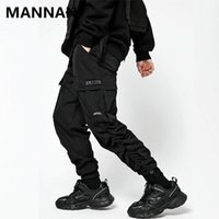 Herrenhose 2021 Funktion der Gummi-Band-Falten-Harem-Hosen-Streetwear-Jogginghosen Herrenmode beiläufige lose Outwear-Mantel