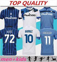 Homens + Kits Kids 20 21 Gomez Atalanta Jerseys 2020 2021 Atalanta BC Maglia da Calcio Duvan Ilicic Pasalic Freuler Futebol Camisa