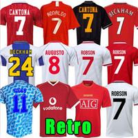Mann 07 08 90 92 94 96 98 99 2002 Retro Final Home Manchester United Jersey 1994 1998 Ronaldo Beckham Kanton Keane Scholes Giggs Jersey
