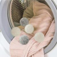 جديد كرات مجفف الصوف الساخن قسط قابلة لإعادة الاستخدام النسيج الطبيعي المنقي 2.75 بوصة 7 سم يقلل ثابت يساعد الملابس الجافة في غسيل أسرع