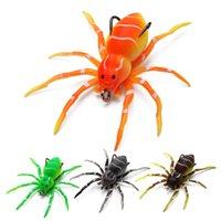 Araña suave cebo silicona pesca señuelos ganchos, señuelos de natación de araña realistas para agua de agua de agua de agua dulce kit de señuelos de pesca