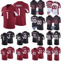 Custom ArizonaCardenalesJersey de fútbol 1 Kyler Murray 10 DEANDRE HOPKINS 11 FITZGERALD CUALQUIER NÚMERO Cualquier nombre Jerseys