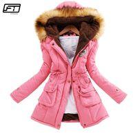 Fitaylor Inverno Plus Size Jacket Mulheres Quente Com Capuz Parka Mujer Grosso Algodão Preto Acolchoado Casaco Feminino Longo Parágrafo Jackets 201212