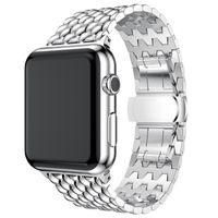 Iwatch 38 40 42 44mm 시계 밴드 애플 시계 시리즈 1 2 3 4 5 교체 스트랩에 대한 양질 금속 팔찌 스테인레스 스틸 밴드