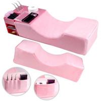 Coussin d'oreiller en flanelle mousse de mousse de mousse de mousse d'extension avec l'organisateur support acrylique étagère d'extension d'extension fournitures salon de maquillage