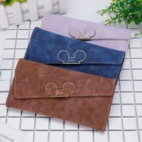 Neue koreanische Frosted QQ-Maus-Slant-Abdeckung 3% Rabatt auf die schöne lange Brieftasche von Frauen