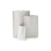 Eco Heat Uszczelnianie Kraft White Food Packag Torby Aluminiowe Folia Mylar Worzce Suszone Wołowiny Organizator Torby z Notch 100 SZTUK / PACK 201021