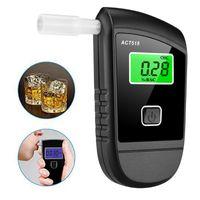 LCD Ekran Dijital Breathalyzer Analiz Cihazı ile Profesyonel Alkol Test Cihazı 5 Ağızlıklar için Alkol Algılama Cihazı
