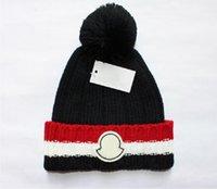 Mayúsculas de Francia Moda para hombre Diseñadores Hats Bonnet Invierno Beanie Hombrero de lana de punto Más Velvet Cap Skullies Máscara más grifería Froras Froras Fríos