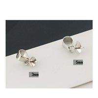 S925 Стерлинговые серебряные жемчужные подвески аксессуары простой сладкий DIY Hollow Pearl Cap Cap для J Bbyqhk Nana_shop