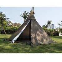 Tente de pyramide A5 avec trou de cheminée / une tour de la tente de fenêtre de la fenêtre de la fenêtre de survie survie survie sur la survie1