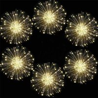 Thrissdar 5in1 10in1 Starburst 문자열 라이트 불꽃 놀이 문자열에 불꽃 놀이 구리 플러그 크리스마스 반짝 반짝 빛나는