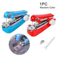 Tragbare Mini Handbuch Nähmaschine Einfache Bedienung Nähwerkzeuge Tuch Stoff Handliches Handwerkzeug Werkzeug für Home Tägliche Verwendung1