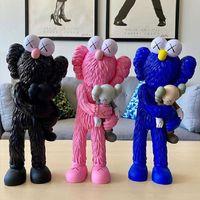 Горячая продажа Сезам Pink 37см Медведи ПВХ Куклы BFF Медведь Bricklys Действие Фигуры Блоки Коллекционные Модели Игрушки Кау