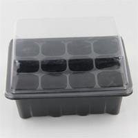 12 Delik Aile Kreş Tencere Siyah Beyaz Renk Mini Saksı Plastik Fide Kutusu Kiti için Ev Bahçe Malzemeleri 1 95MD E1
