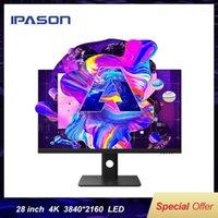 Мониторы IPASON E281UA 28-дюймовый 4K Высокоцветный Gamuut Дизайн рисунка Монитор Подъем / Повернутая регулировка / HD Разрешение Desktop1