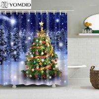 Yomdid noel рождественские украшения ванна занавес рождественские елки узор занавес для душа занавес мультфильм для домашней ванной cortina de ducha1