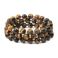 New Fashion 8mm Tiger Eye Beaded Bracelet for Men Women Stretchy Nature Stone Spacer Beads Charm Bracelet Fashion Jewelry Gift