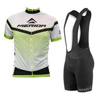 2020 Merida Takım Erkekler Yaz Bisiklet Jersey Seti Yol Bisikleti Kıyafetler Yarış Giyim Nefes Hızlı Kuru Mtb Bisiklet Sporları Üniforma Y081613