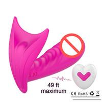 Masturbazione femminile usb ricaricabile silicone telecomando senza fili indossare farfalla vibratore invisibile biancheria intima sesso adulto gioca 2 motori