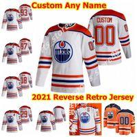 2021 Retro Retro Edmonton Öler Hockey-Trikots 27 Mike Green 49 Tyler Benson Adam Cracknell Seth Griffith Dominik Kahun Custom genäht