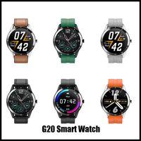 2020 Новые поступления G20 SmartWatch Большие полные сенсорные мужчины женщин бизнес стиль спортивный фитнес браслет монитор сердечных сокращений для iOS Androi