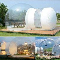 Tienda de burbujas inflables claras, Casa inflable Familia Copia de campaña de campaña, Carpas De Camping Air Dome Bubble Room para Hotel