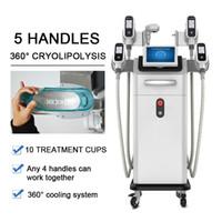 Yenilikçi Cryolipolysis 5 CRYO Yağ Dondurucu Kolu Cryolipo Lizis Liposuction Makinesi Vücut Dondurucu Ekipman Kilo Kaybı Hızlı