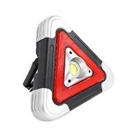 Портативные фонарики Светодиодные COB USB Солнечная рабочая Свет Водонепроницаемый Предупреждение Лампу 5 Режимы Открытый Кемпинг Аварийный фонарь 18650 Решается1