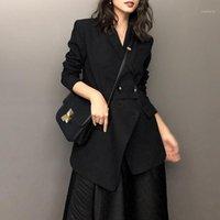 Fashion Brand Desinger Blazer Cappotto Nero Ufficio Lady Elegante Giacca Giacca Blazer Femminile Lavoro Abbigliamento Casaco Feminino Donna Vendita1